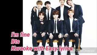 I'm fine karaoke/instrumental (Bts)  Easy lyrics/Letra fácil