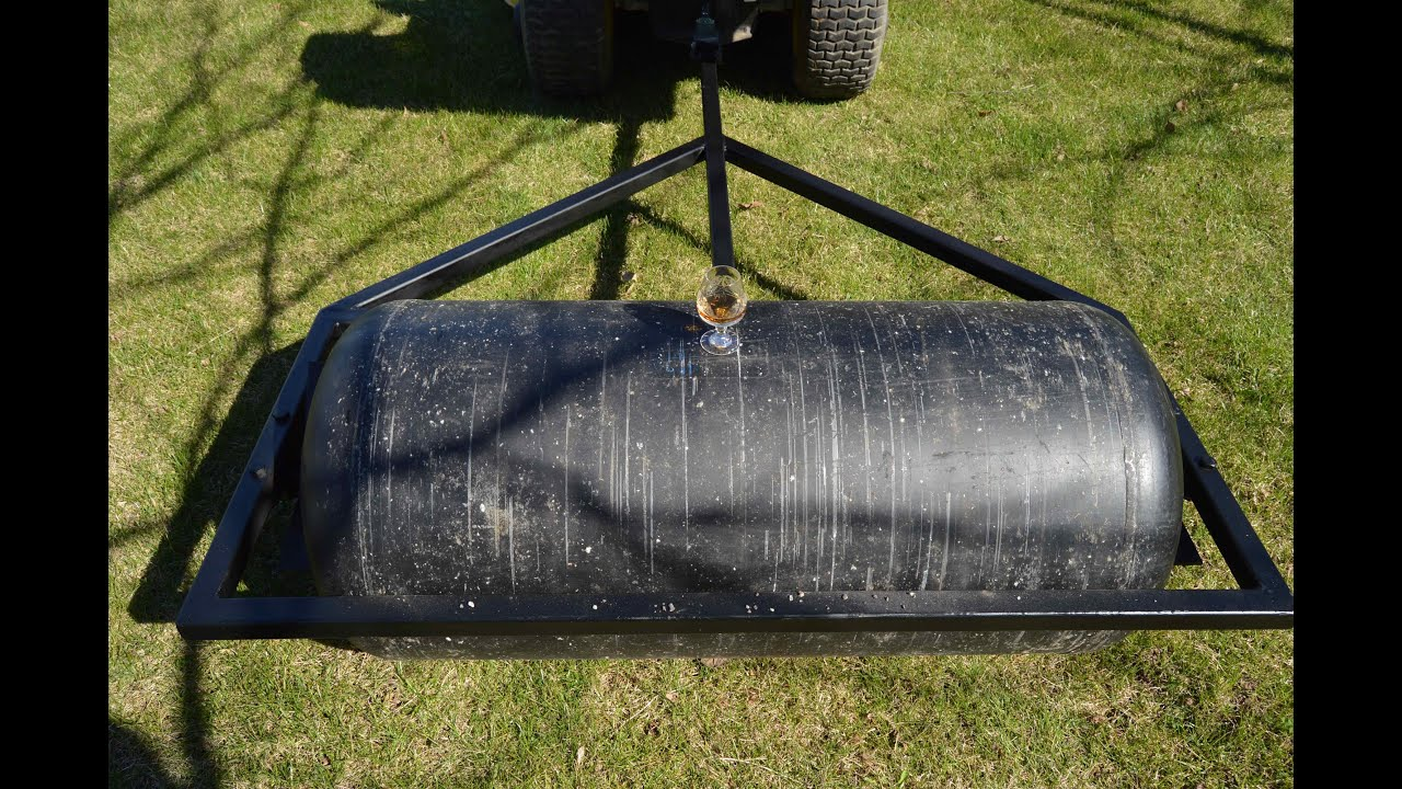 Diy Lawn Roller Youtube