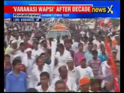 Sonia Gandhi leads roadshow in Modi's bastion, Varanasi