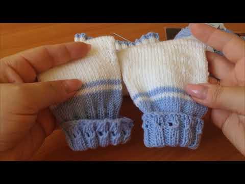 Штанишки для новорожденных вязанные спицами