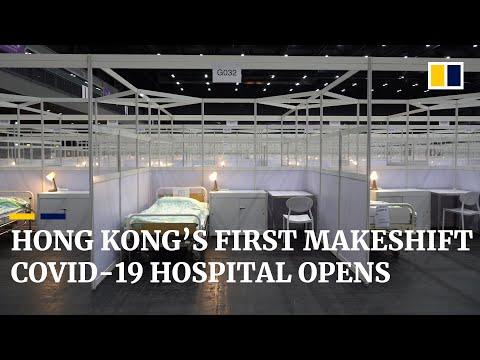 Hong Kong's first makeshift Covid-19 hospital in operation amid third wave of coronavirus crisis