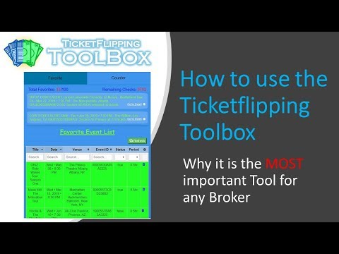 How To Use The Ticketflipping Toolbox: Features And Benefits