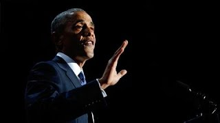 President Obama Ends Farewell Speech With