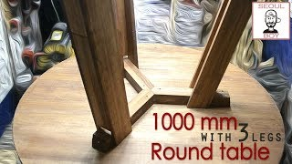 how make round wooden table wi…