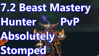 WoW - 7.2 Beast Mastery Hunter PvP - Alliance Absolutely Stomped - Battleground w/Commentary