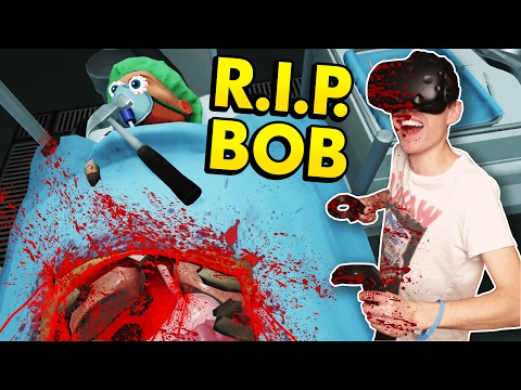 CRAZY DOCTOR IN VIRTUAL REALITY! (Surgeon Simulator VR Experience Reality - HTC Vive Gameplay)