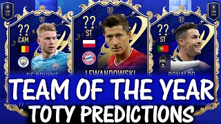 FIFA 21 | TEAM OF THE YEAR 2020 PREDICTIONS!! FT. LEWANDOWSKI, DE BRUYNE, RONALDO ETC (FIFA 21 TOTY)