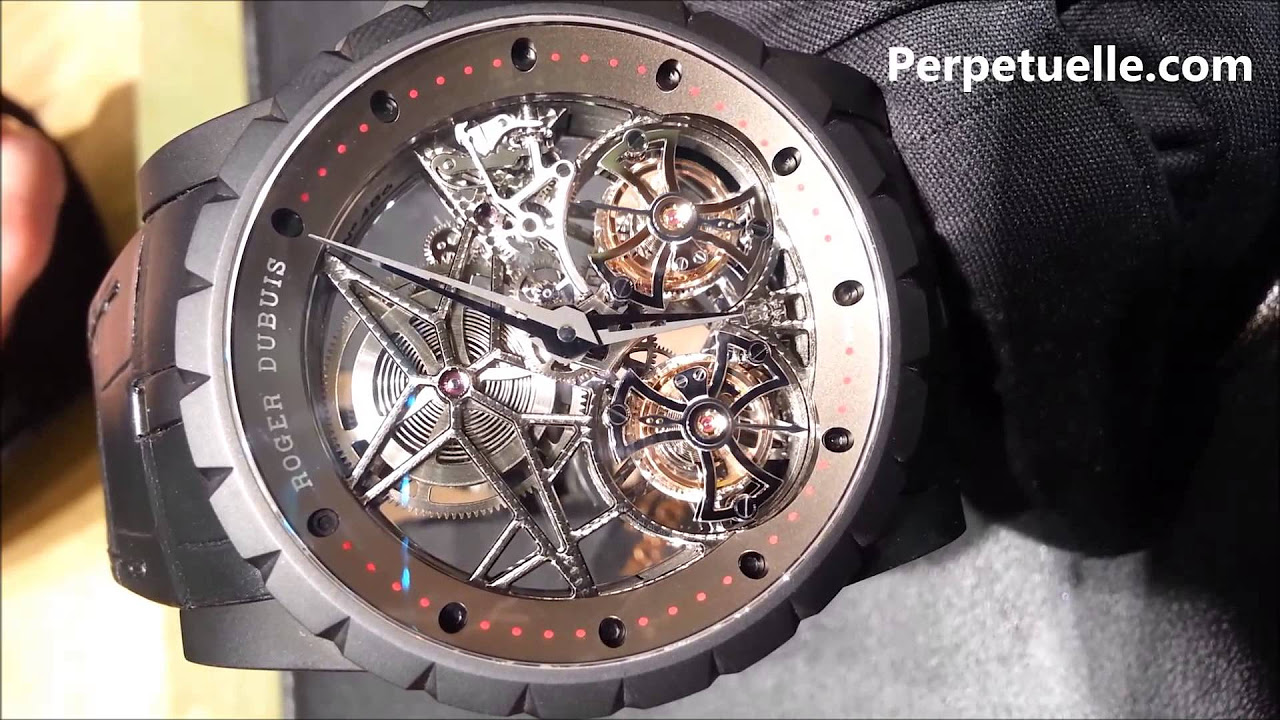 Knights Of Round Table Watch Roger Dubuis Excalibur Spider Double Flying Tourbillon Perpctuelle