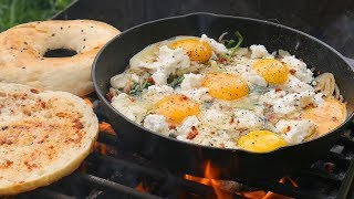 Perfect Breakfast on the Fire. Top Way of How to make Eggs