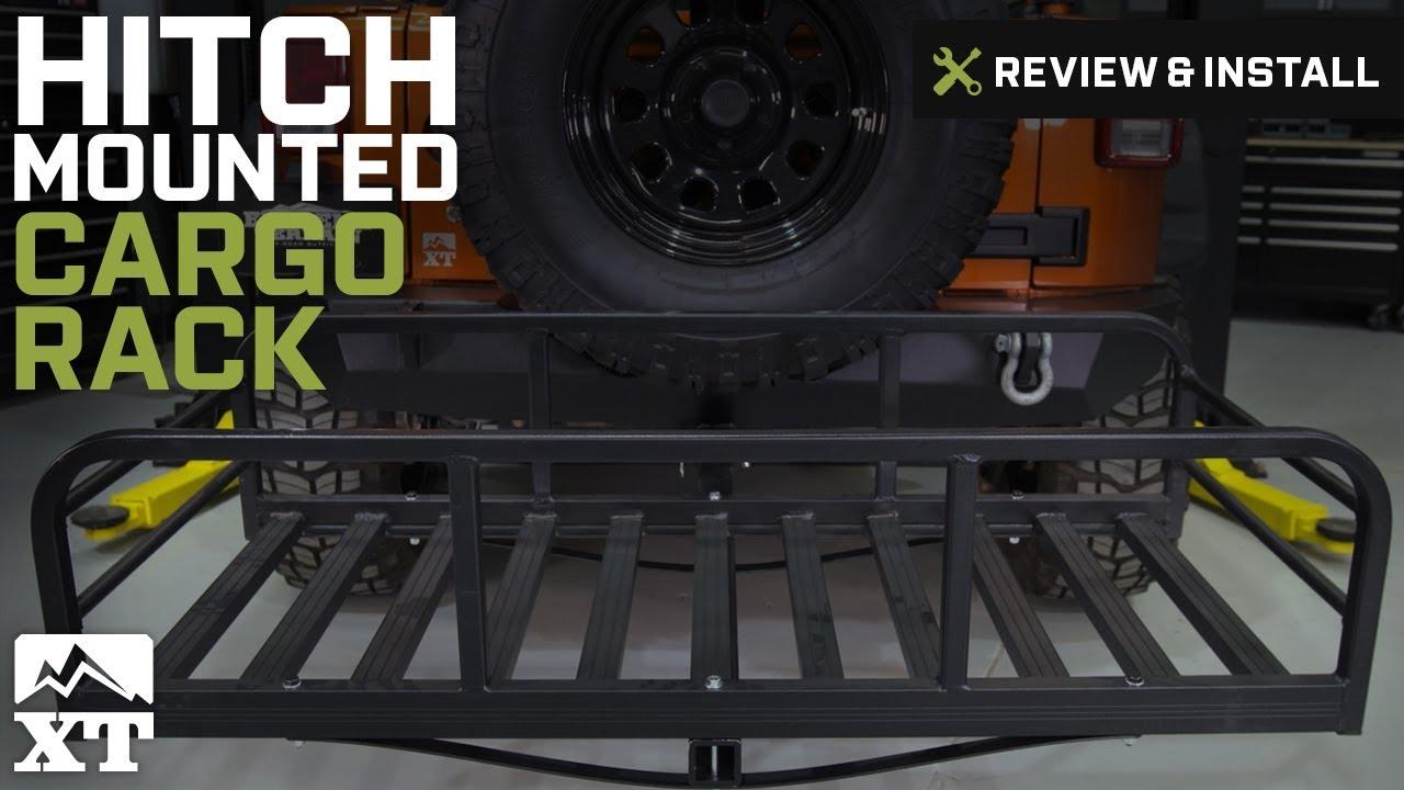 Jeep Wrangler Hitch Mounted Cargo Rack Xl 1987 2016 Yj