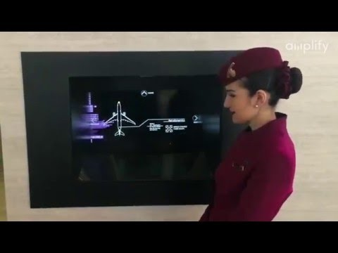 Qatar Airways interactive Hologram