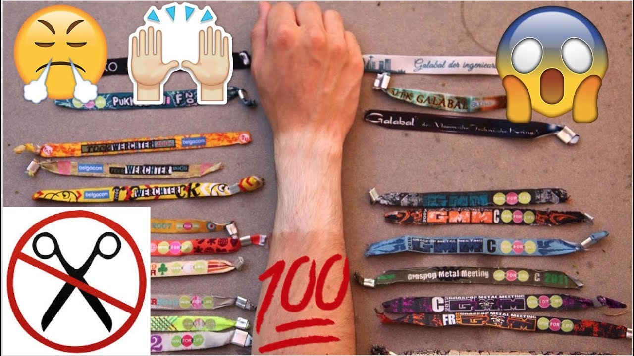How To Remove Any Festival Wristband Without Damaging It Youtube
