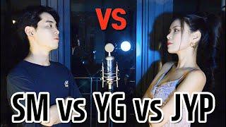 한 곡에 듣는 3대 기획사 대결 |  SM vs YG vs JYP  (feat. 블랙핑크, 트와이스, 레드벨벳, 엔시티, 갓세븐 위너...) Sing Off