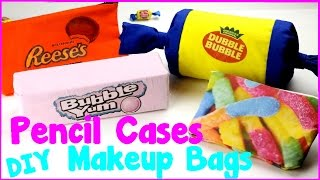 DIY Crafts: 4 Easy DIY Candy Pencil Cases and Makeup Bags {No Sew Craft Idea} thumbnail
