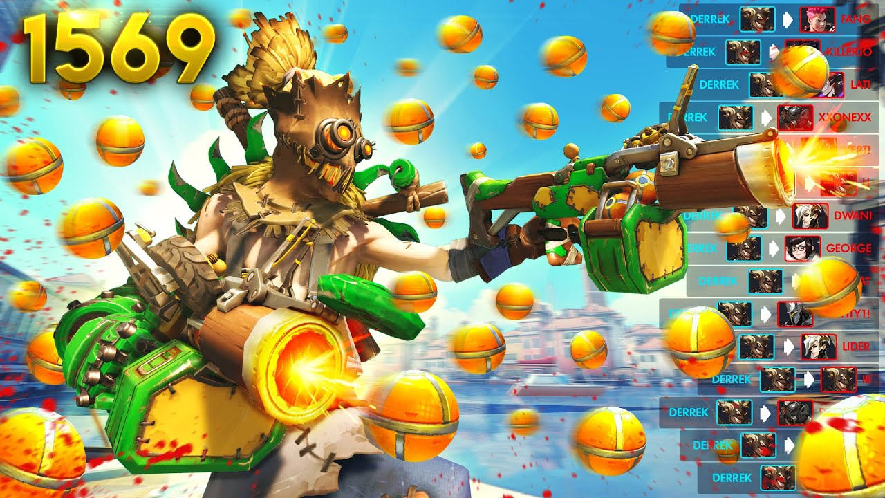 Download POV: Enemy Junkrat is your long-lost twin 😂   Overwatch Daily Moments Ep.1569