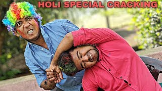 Colourful massage therapy by Asim barber | Loudest cracking | Holi Special Indian ASMR