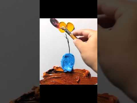 How To Paint Easy 3d Painting On Canvas Youtube