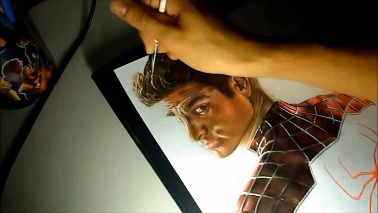 The Amazing Spider-Man 2: Peter Parker drawing - YouTube