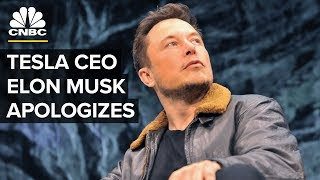 Tesla CEO Elon Musk Apologizes: 'No Excuse for Bad Manners'
