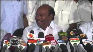 P.M.K. Ramadass Meets Press in Chennai - Video in Dinamalar