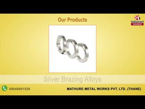 Alloys & Fluxes By Mathure Metal Works Pvt. Ltd., Thane