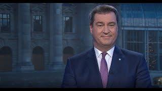 Die neujahrsansprache 2019 des bayerischen ministerpräsidenten dr. markus söder - erstausstrahlung am 1. januar um 18.40 uhr im fernsehen.be...