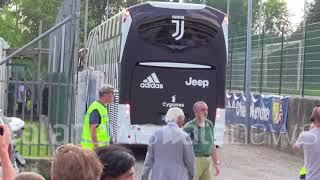 L'arrivo di CR7 e della Juve a Verona per la prima di campionato