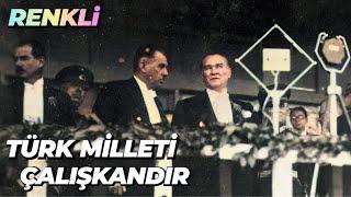 Atatürk 10. Yıl Nutku RENKLİ - #YapayZeka ile Renklendirme