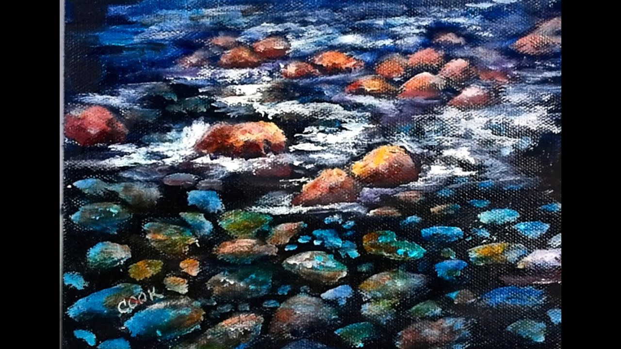How to paint river rocks underwater 60 min step by step for What to do with river rock