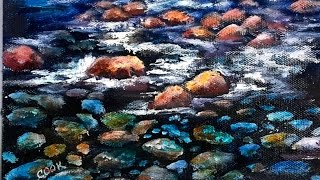 How to paint river rocks underwater 60 min step by step tutorial