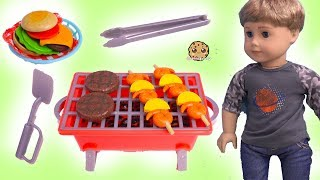 BBQ Grill with American Girl Dolls + Surprise Shopkins Season 10 Blind Bags
