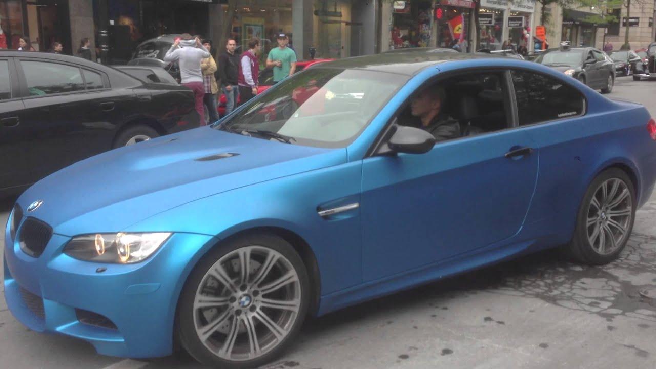 Matte Sky Blue BMW M3 E92 - YouTube