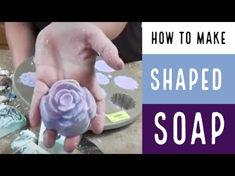 Lavender Rose Shaped Soap / How To Make Soap