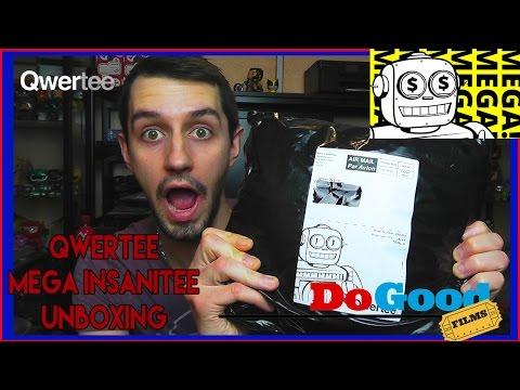 Qwertee Mystery T-Shirt Unboxing | Insanitee