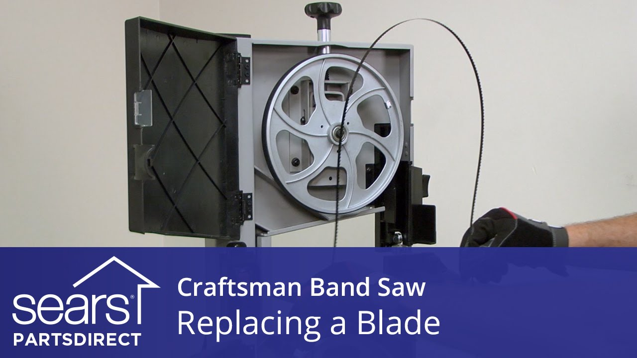 How to replace a craftsman band saw blade youtube how to replace a craftsman band saw blade greentooth Image collections