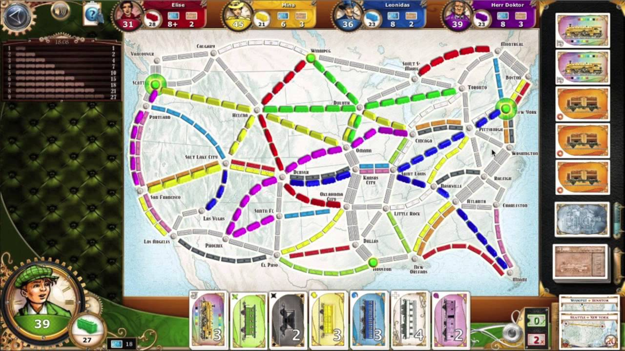 ticket to ride usa map Let S Play Ticket To Ride Us 1910 Big Cities Map Youtube