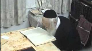 Rabbi (Moreinu Ha Rav) Elyashiv Shtaigging - Learning - Rare Video Footage