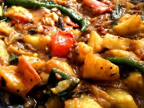 Spicy Potato Curry With Maldives Fish And Tomato For Chapathi