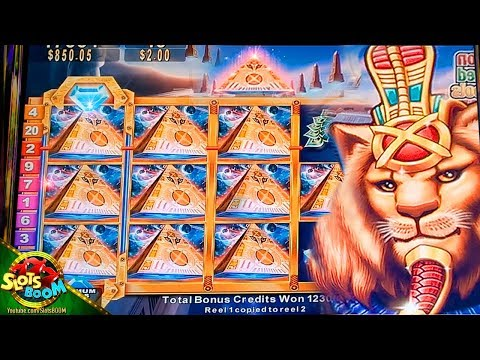 245 Free Spins On Pride Of Egypt !!! BIG BONUS !!! 5c Konami Slot In Casino
