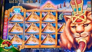 245 Free Spins on Pride of Egypt !!! BIG BONUS !!! 5c Konami Slot in Casino