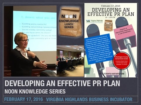 Developing an Effective PR Plan Noon Knowledge, Feb 17, 2016