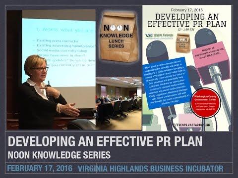 Developing an Effective PR Plan Noon Knowledge, Feb 17, 2016