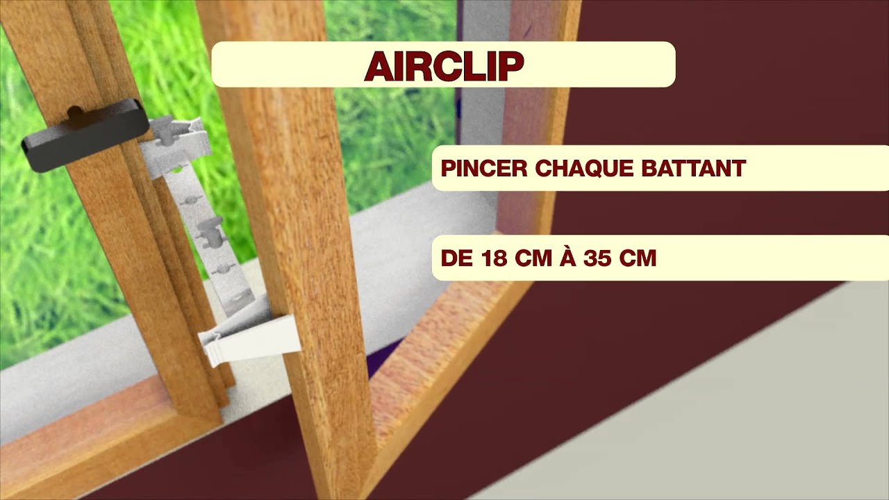 Airclip entrebailleur de fen tre youtube for Bloque fenetre pvc
