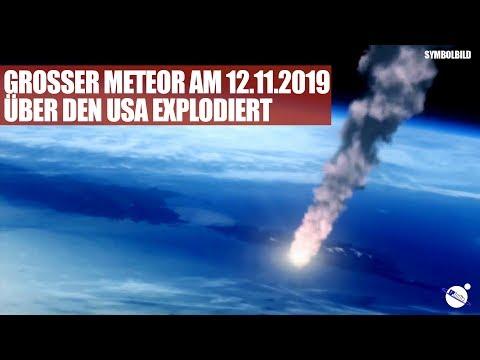 Grosser Meteor am 12.11.2019 über den USA explodiert