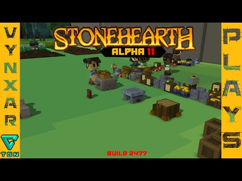 Let's play StoneHearth - Early Access - Alpha 11 - New Cook Profession, Crates, Backpack
