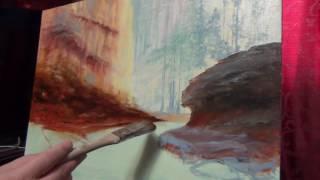 как рисовать деревья маслом (видео - 1)(пишем деревья маслом от начала до конца,, 2016-11-29T01:55:41.000Z)
