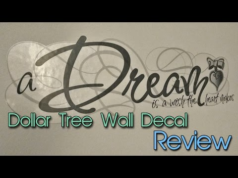 Dollar Tree Wall Decals | Quick Review | Cheap Decor | Creation in Between