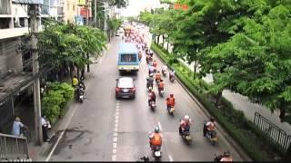 タイ(バンコク)のモーターサイ、デモ?集会?