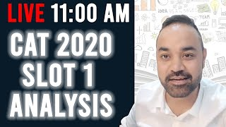 CAT 2020 SLOT 1 Analysis - LIVE By CATKING