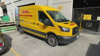 DHL Delivery Van Wrap Install.  Get your brand on the road and driving leads.